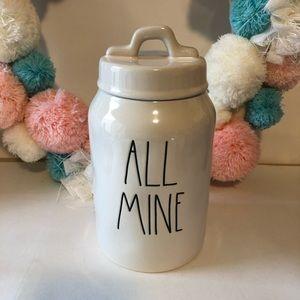 New Rae Dunn All Mine canister